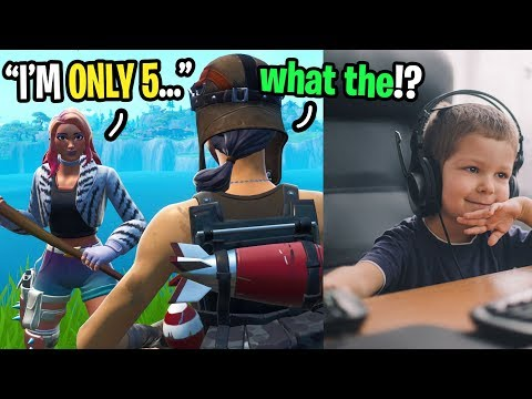 I played with the YOUNGEST Fortnite player in the WORLD... (he's 5 YEARS OLD!)