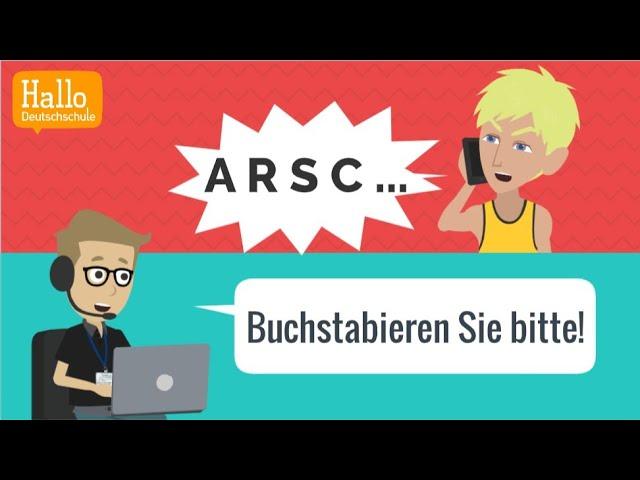 Deutsch sprechen | buchstabieren üben | Grundkenntnisse Deutsch als Fremdsprache! A1