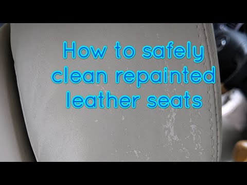 How to safely clean repainted leather seats!