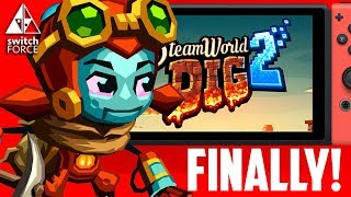 BEST SWITCH INDIE?! SteamWorld Dig 2 Gameplay - INTRO + IMPRESSIONS! (Nintendo Switch Gameplay)