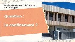 'Le confinement' par la classe de seconde bac pro MRC - lycée Léon Blum Villefranche de Lauragais 31