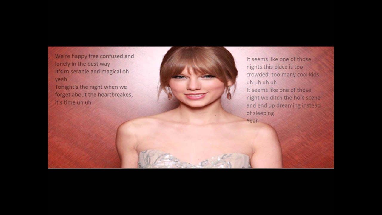 Taylor Swift 22 Acoustic Lyrics Youtube
