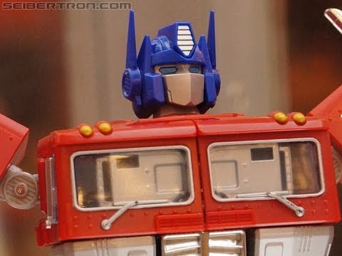 Hasbro's Transformers Masterpiece Optimus Prime on display at BotCon 2012