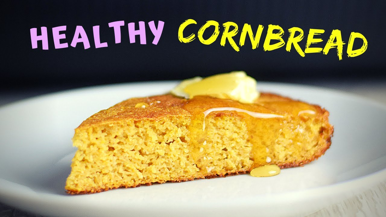 Healthy Cornbread (NOT DRY and CRUMBLY!  Gluten Free! Low calorie recipe!)
