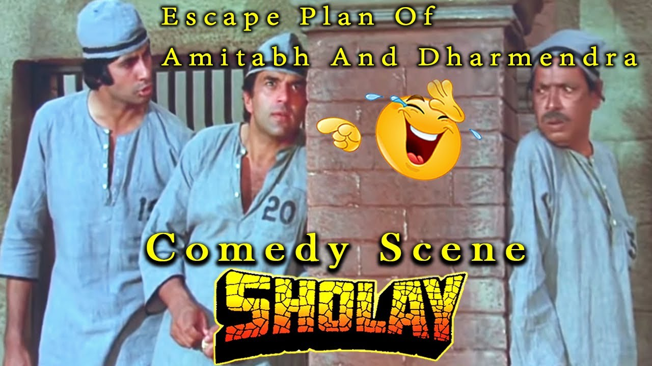 Download Escape Plan Of Amitabh And Dharmendra | Comedy Scene | Sholay Hindi Movie