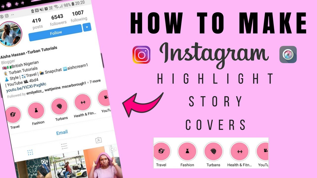 how to make story highlight covers free and easy instagram story highlights 2018 youtube. Black Bedroom Furniture Sets. Home Design Ideas