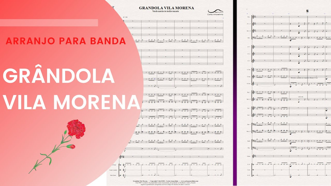 Grândola Vila Morena   Arranjo de Carlos Amarelinho   Banda
