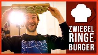 Zwiebelring-Burger und bemalte Eier!