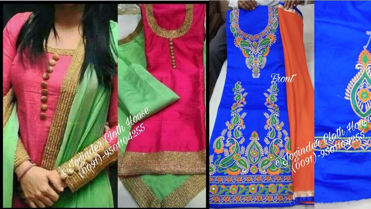 Latest Designer Punjabi Suits Thread Work Daily Instagram Feed 22