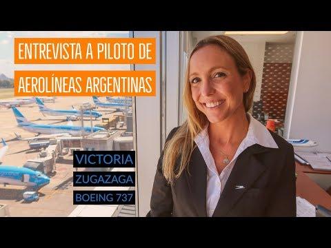 Victoria Zugazaga - piloto Boeing 737 Aerolíneas Argentinas