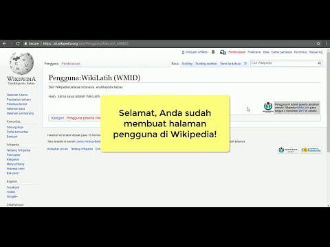 Tutorial Wikipedia - Membuat halaman pengguna di Wikipedia