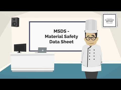 What Is MSDS Or Material Safety Data Sheet