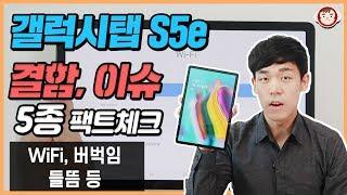 갤럭시탭 S5e 결함, 이슈 사항 5가지 팩트체크! WiFi, 버벅임, 들뜸 등