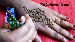 simple henna mehndi designs for hands step by step for beginners || easy mehndi designs