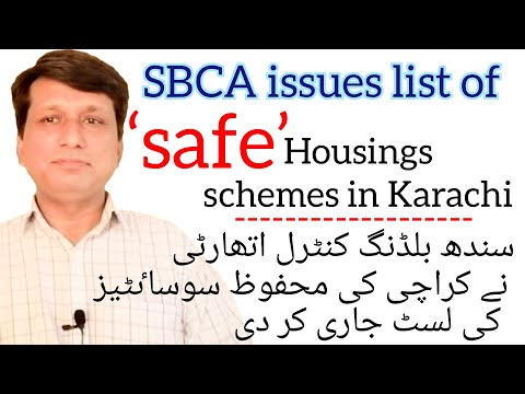 SBCA issues list of 'safe'  housings schemes in Karachi | Buy plots in only approved societies.