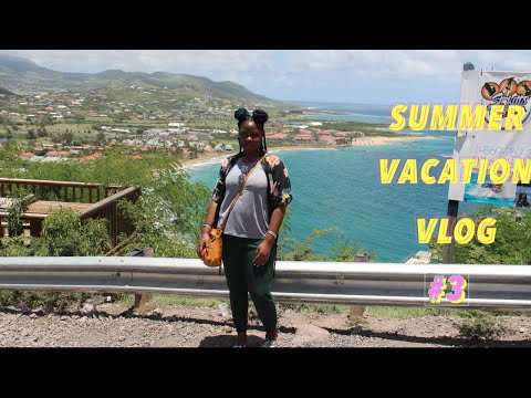 Summer Vacation Vlog Day 3: St Kitts sight seeing, mount liamuiga , shopping, dinner