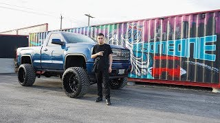Esteban Gabriel Builds his GMC Sierra on 24x14s with a 7/9 in lift kit in Houston Texas!