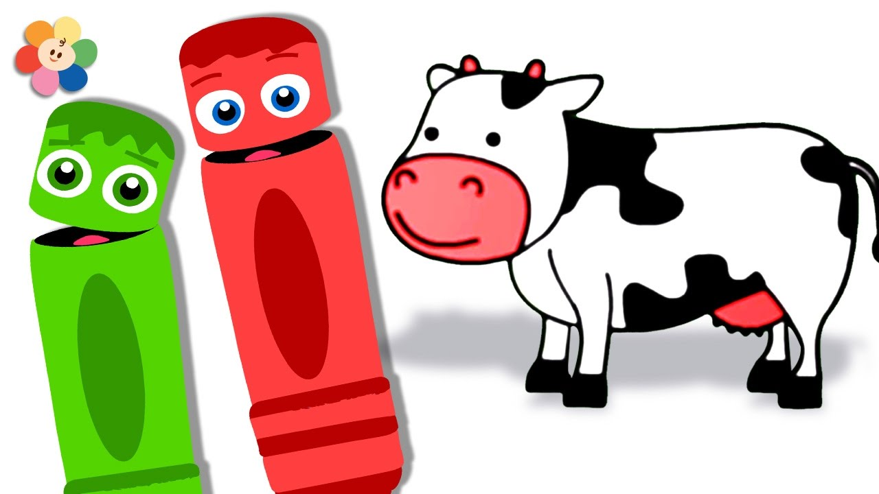 learn colors for kids coloring farm animals learn colors with color crew and babyfirst - Pictures Of Animals For Kids To Color
