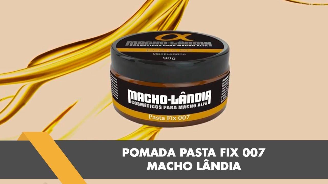 6c9633f9f Pomada Pasta Fix 007 Modeladora da Macho Lândia Como Usar - YouTube