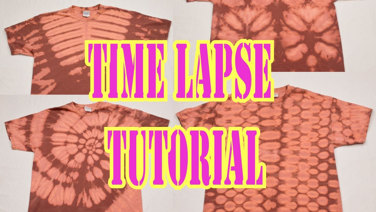 Bleach tie dye 4 shirt timelapse tutorial 15 part 1 3 for Types of tie dye shirts