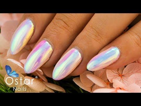 Mirror Mermaid Powder Tutorial 鏡面美人魚粉操作影片 Ostar Nails