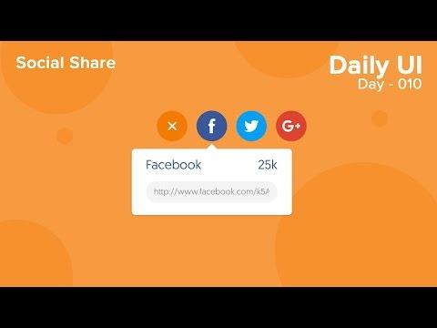 Daily UI - Day 010 - Social Share (Xd/Ae)