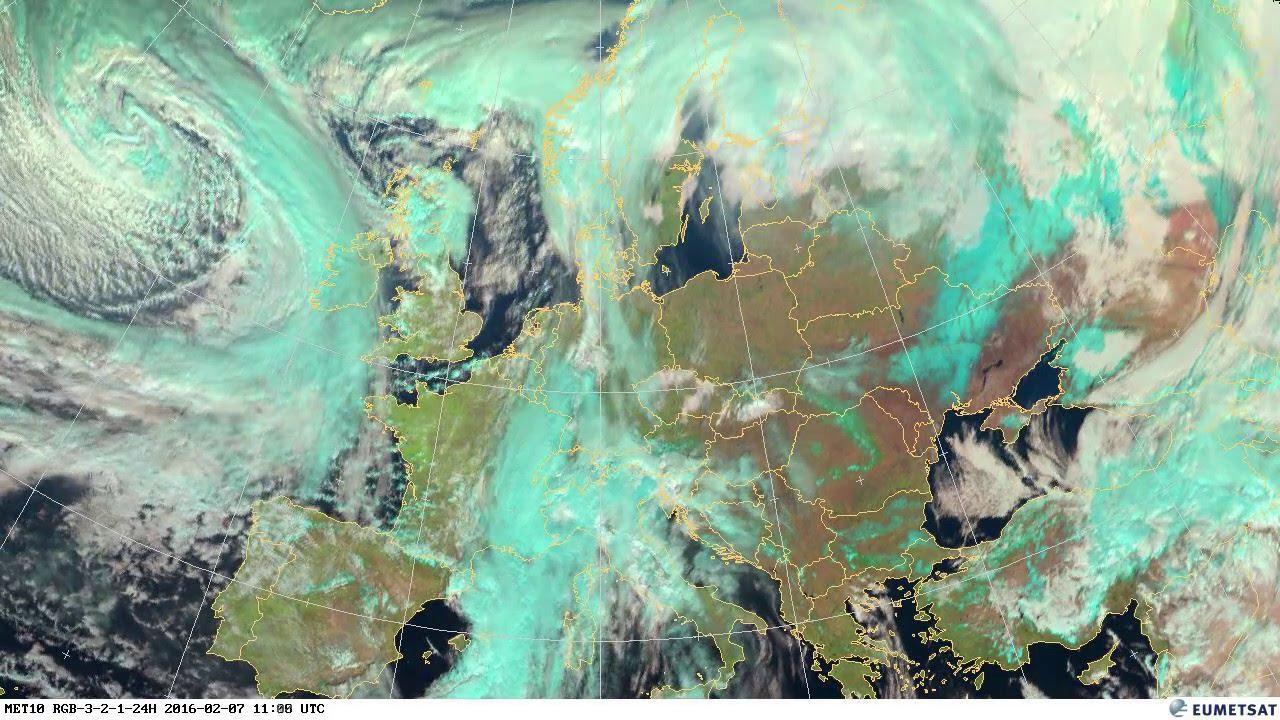 Animación del satélite correspondiente al mes de Febrero de 2016