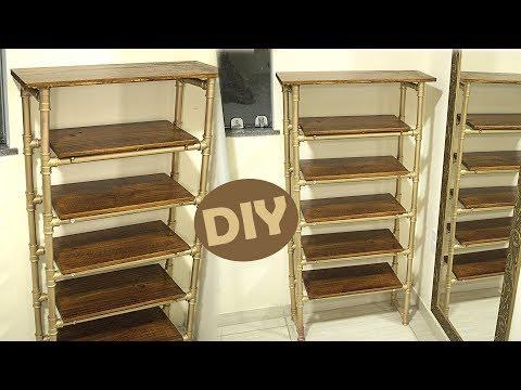 DIY: Estante De Cano PVC E Madeira (Faça Você Mesmo)