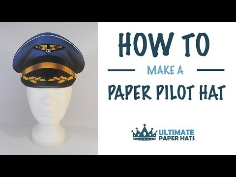 How To Make A Paper Pilot Hat - YouTube