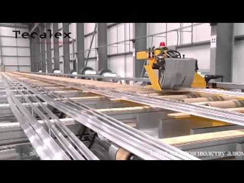 Производство алюминиевого профиля. Как это делается: Экструзия алюминиевого профиля на заводе