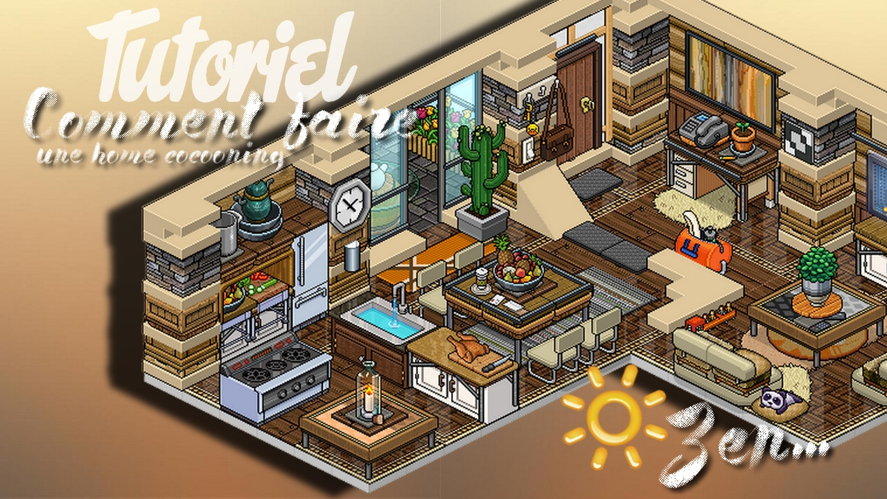 Habbo Comment Faire Un Appartement Cocooning Youtube