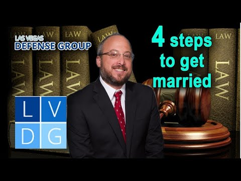 4 steps to get married in Las Vegas