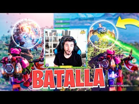 WILLYREX REACCIONA A LA BATALLA DE FORTNITE (Evento Monstruo VS Robot)