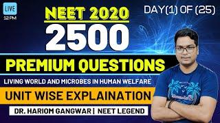 NEET 2020 | NCERT BIOLOGY BY DR. HARIOM GANGWAR | 100 MOSTEXPECTED QUESTIONS