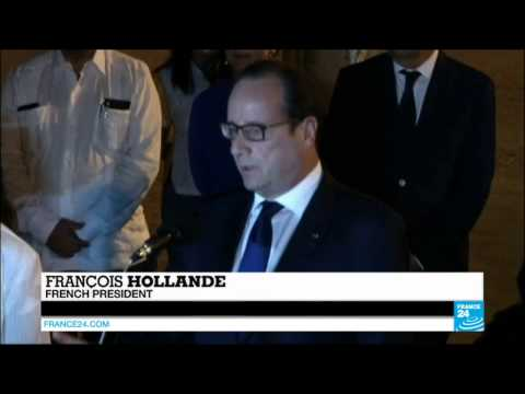 FRANCE - Hollande arrives in Cuba for landmark visit