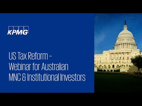 US Tax Reform webinar