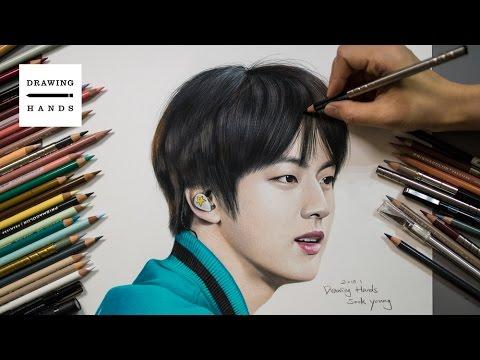 Speed Drawing BTS - JIN (Bangtanboys Kim SeokJin) [Drawing