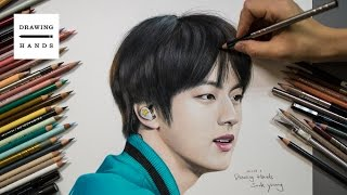 Speed Drawing  BTS - JIN (Bangtanboys Kim SeokJin) [Drawing Hands]