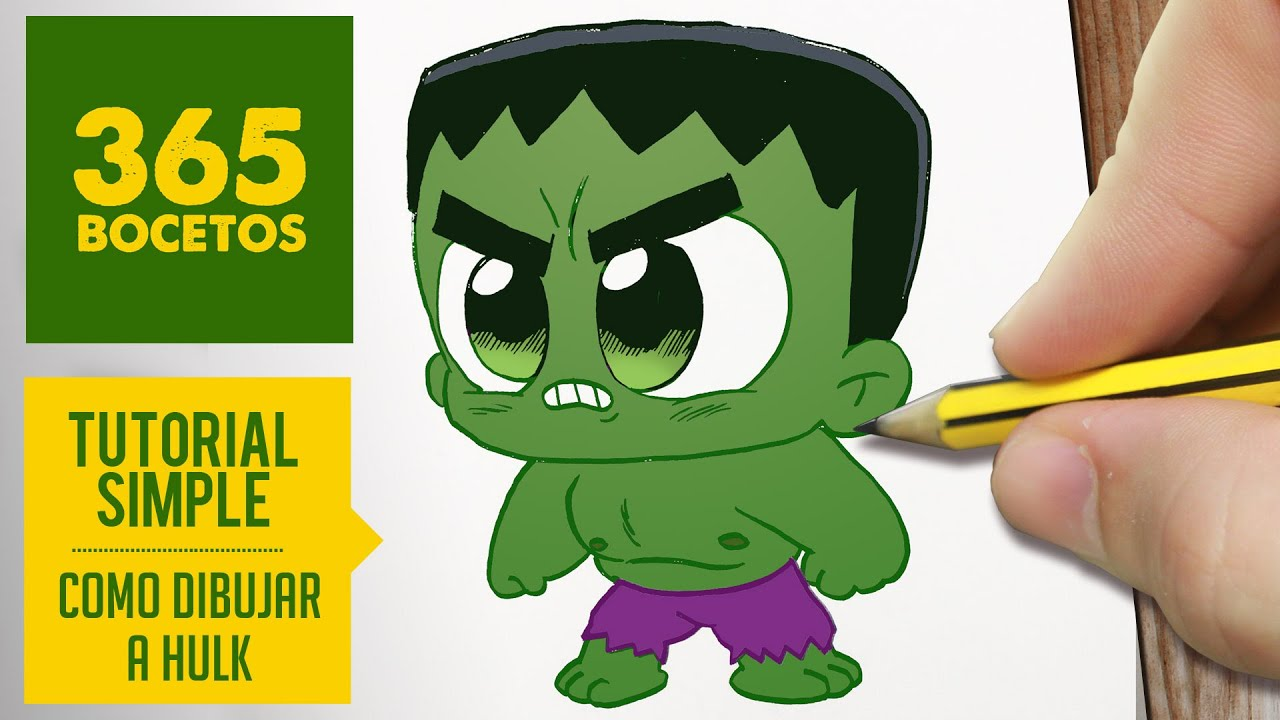 COMO DIBUJAR HULK KAWAII PASO A PASO , Kawaii facil , How to draw Hulk , YouTube
