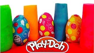 Play Doh Surprise Eggs Kinder Surprise Eggs Mickey Mouse Peppa Pig Super Mario