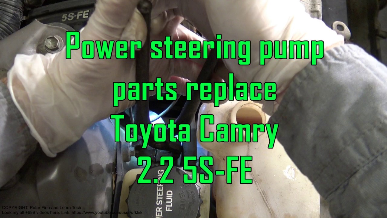 medium resolution of power steering pump parts replace toyota camry 2 2 engine 5s fe
