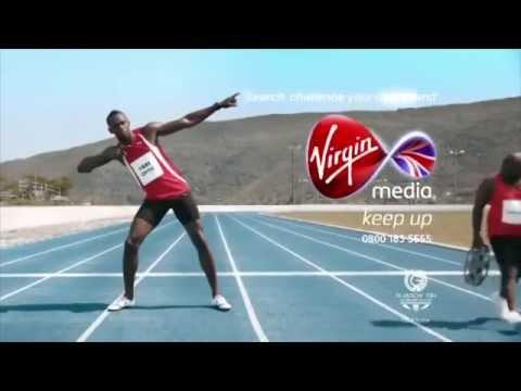 Usain Bolt's funny Virgin Media Ads