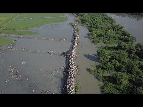 شاهد: أمواج بشرية من الروهينغا تواصل النزوح من بورما وسط عجز دولي  - نشر قبل 3 ساعة