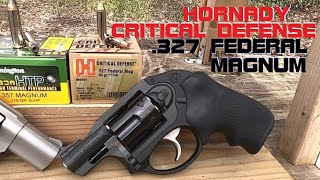 .327 Federal Magnum Critical Defense Snubby Ballistic Test (VS Remington HTP .357 Magnum)