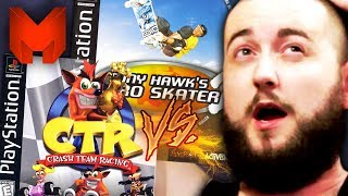 The BEST PS1 Games? Crash Team Racing vs Tony Hawk's Pro Skater 2 - Madness