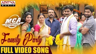 Family Party Full Video Song | MCA Full Video Songs| Nani, Sai Pallavi | DSP | Dil Raju