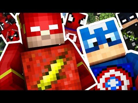 Minecraft 1V1V1V1 SUPERHERO LUCKY BLOCK ON GOTHAM (BATMAN CITY)! | (Minecraft Modded Minigame)