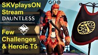 SKVplaysON - Dauntless - Free To Play (pc game) - Heroic Runs Today,  [ENGLISH] PC Gameplay