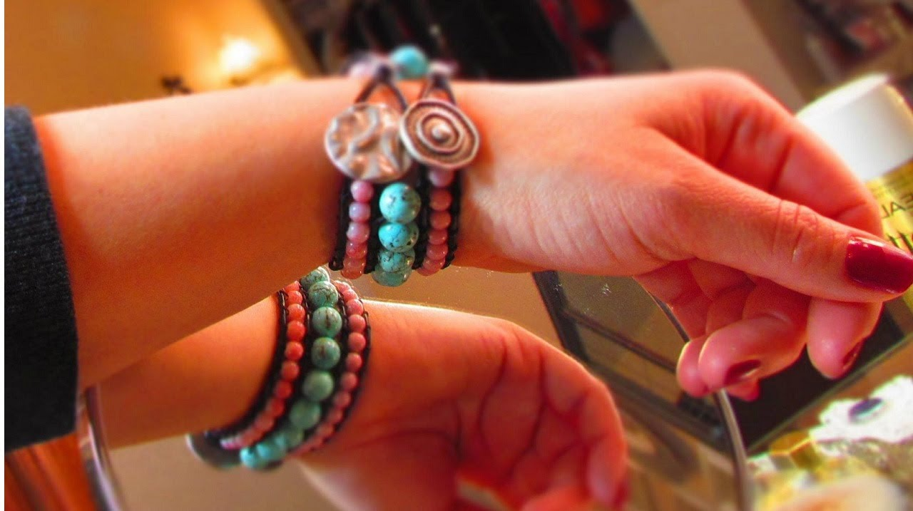 Watch DIY Boho-Chic Leather Bracelet With Beads And Chain video