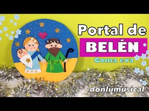 portal de beln de goma eva de navidad